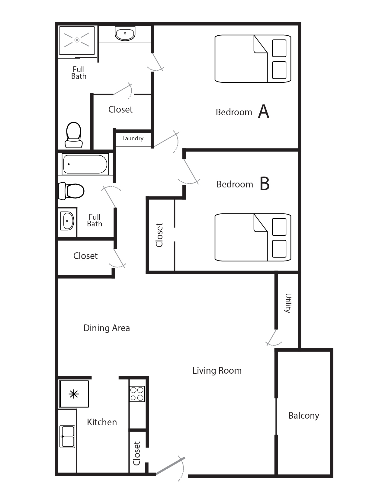 Bedroom Apartments For Rent In Langley